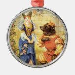 Vintage Fairy Tale, Beauty and the Beast Christmas Ornaments