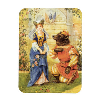 Vintage Fairy Tale, Beauty and the Beast Vinyl Magnets