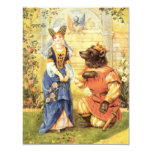 Vintage Fairy Tale, Beauty and the Beast 4.25x5.5 Paper Invitation Card