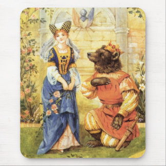 Vintage Fairy Tale, Beauty and the Beast Mouse Pad