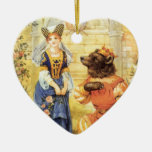 Vintage Fairy Tale, Beauty and the Beast Ornaments