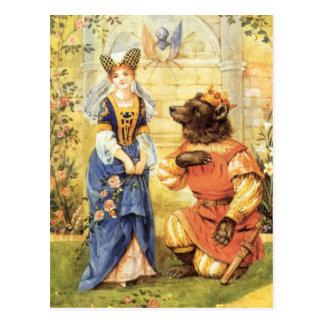 Vintage Fairy Tale, Beauty and the Beast Postcard