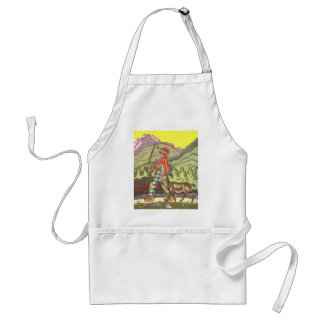 Vintage Fairy Tale, Boy and the North Wind, Hauman Apron