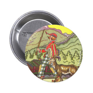 Vintage Fairy Tale, Boy and the North Wind, Hauman 6 Cm Round Badge
