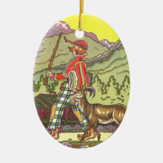 Vintage Fairy Tale, Boy and the North Wind, Hauman Ornament