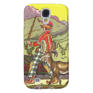 Vintage Fairy Tale, Boy and the North Wind, Hauman Galaxy S4 Case