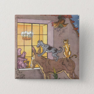 Vintage Fairy Tale, Bremen Town Musicians, Hauman 15 Cm Square Badge