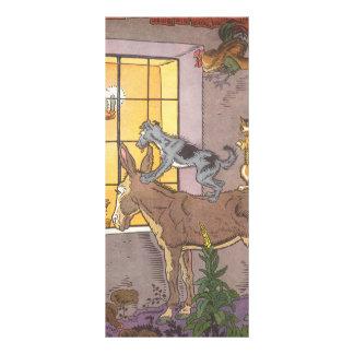 Vintage Fairy Tale, Bremen Town Musicians, Hauman Customized Rack Card