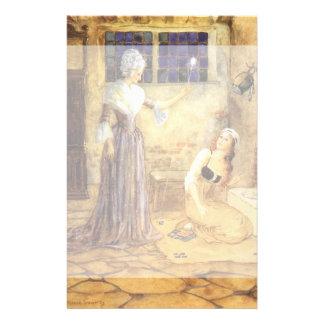 Vintage Fairy Tale, Cinderella and Fairy Godmother Custom Stationery