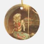 Vintage Fairy Tale, Cinderella and Fairy Godmother Ornament
