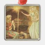 Vintage Fairy Tale, Cinderella and Fairy Godmother Christmas Ornament