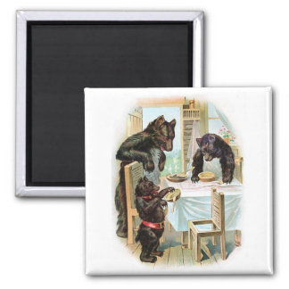 Vintage Fairy Tale Classic 3 Bears Magnet