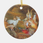 Vintage Fairy Tale, Enchanted Forest by Fitzgerald Christmas Tree Ornament