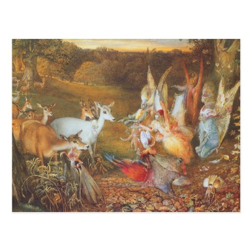 Vintage Fairy Tale, Enchanted Forest by Fitzgerald Post Card