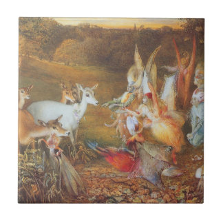 Vintage Fairy Tale, Enchanted Forest by Fitzgerald Small Square Tile