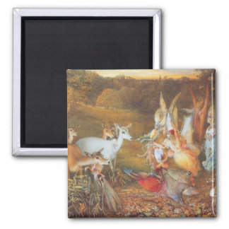 Vintage Fairy Tale, Enchanted Forest by Fitzgerald Square Magnet