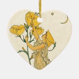 Vintage Fairy Tale, Evening Primrose, Walter Crane Christmas Ornament