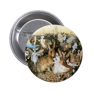Vintage Fairy Tale Fairy Twilight, John Fitzgerald 6 Cm Round Badge