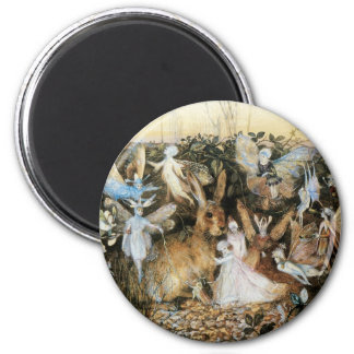 Vintage Fairy Tale Fairy Twilight, John Fitzgerald Refrigerator Magnets