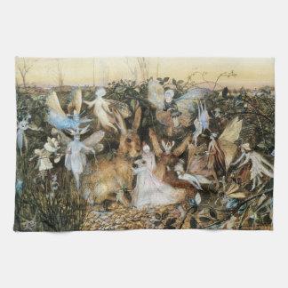 Vintage Fairy Tale Fairy Twilight, John Fitzgerald Tea Towel