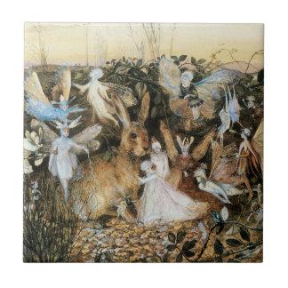 Vintage Fairy Tale Fairy Twilight, John Fitzgerald Tile
