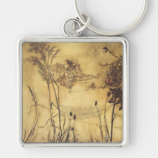 Vintage Fairy Tale, Fairy's Tightrope by Rackham Key Ring
