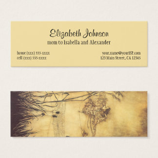 Vintage Fairy Tale, Fairy's Tightrope by Rackham Mini Business Card