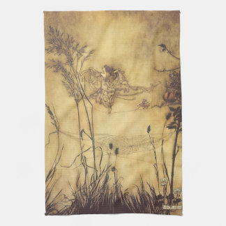 Vintage Fairy Tale, Fairy's Tightrope by Rackham Tea Towel
