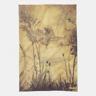 Vintage Fairy Tale, Fairy's Tightrope by Rackham Tea Towel