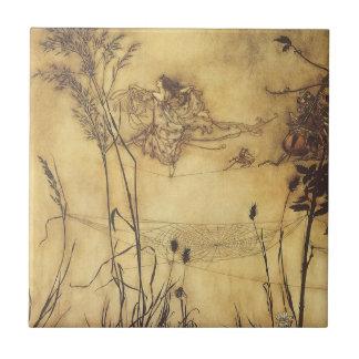 Vintage Fairy Tale, Fairy's Tightrope by Rackham Tile