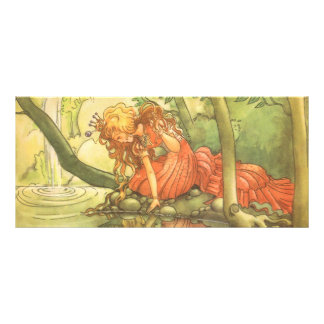 Vintage Fairy Tale, Frog Prince Princess by Pond 10 Cm X 23 Cm Rack Card