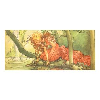 Vintage Fairy Tale, Frog Prince Princess by Pond Rack Card