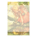 Vintage Fairy Tale, Frog Prince Princess by Pond Customized Stationery