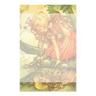 Vintage Fairy Tale, Frog Prince Princess by Pond Stationery
