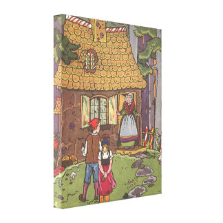 Vintage Fairy Tale, Hansel and Gretel by Hauman Canvas Prints