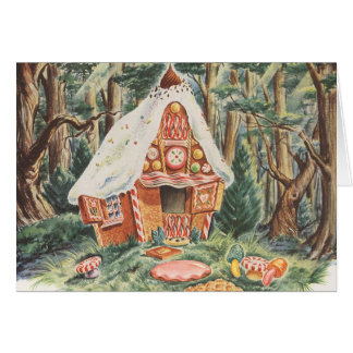 Vintage Fairy Tale, Hansel and Gretel Candy House Greeting Card