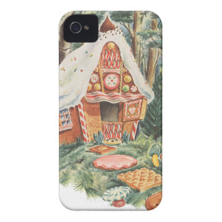 Vintage Fairy Tale, Hansel and Gretel Candy House Case-Mate iPhone 4 Cases