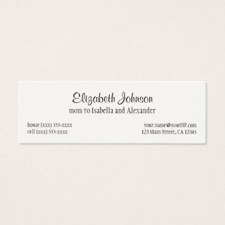 Vintage Fairy Tale, Hansel and Gretel Candy House Mini Business Card