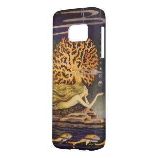 Vintage Fairy Tale, Little Mermaid in Ocean Coral