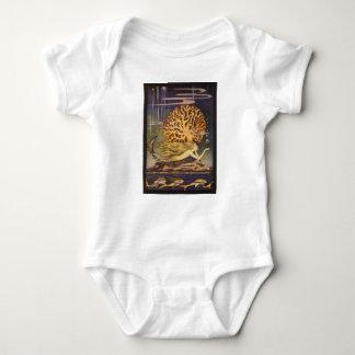 Vintage Fairy Tale, Little Mermaid in Ocean Coral Baby Bodysuit
