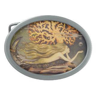 Vintage Fairy Tale, Little Mermaid in Ocean Coral Belt Buckles