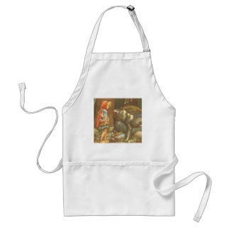 Vintage Fairy Tale, Little Red Riding Hood Standard Apron