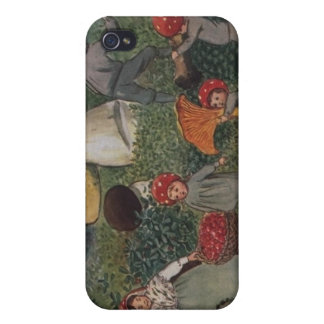 Vintage Fairy Tale Magical Elves Case For iPhone 4