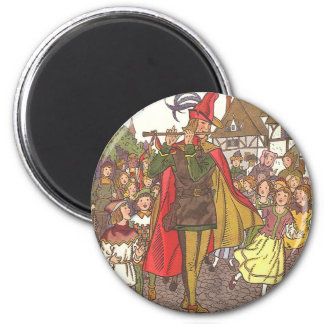 Vintage Fairy Tale Pied Piper of Hamelin by Hauman 6 Cm Round Magnet