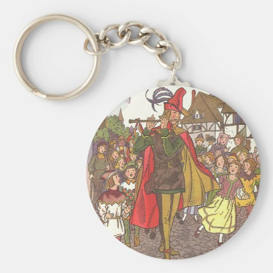 Vintage Fairy Tale Pied Piper of Hamelin by