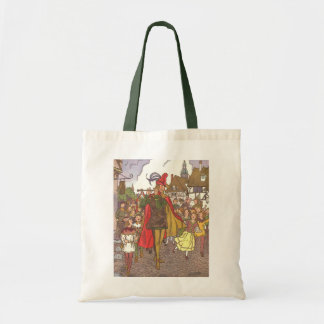 Vintage Fairy Tale Pied Piper of Hamelin by Hauman Tote Bag