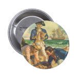 Vintage Fairy Tale Pirates, Treasure Island Pinback Buttons
