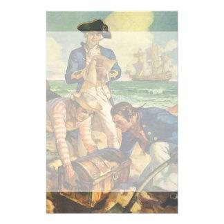 Vintage Fairy Tale Pirates, Treasure Island Stationery