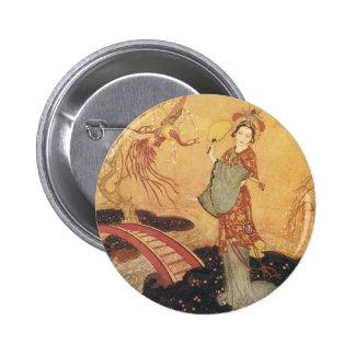 Vintage Fairy Tale Princess Badoura, Edmund Dulac 6 Cm Round Badge