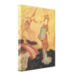 Vintage Fairy Tale Princess Badoura, Edmund Dulac Gallery Wrapped Canvas